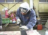 看板の本体製作・部材加工・電気配線・塗装