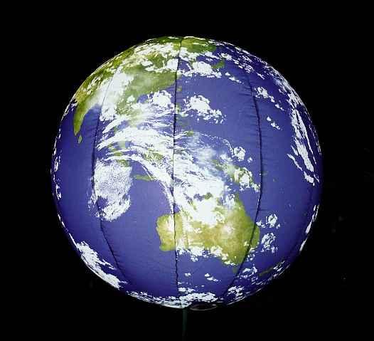 エアロアラウンザピラー「地球」Φ1m